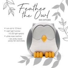 Young Living Feather the Owl Diffuser with 10 LED Settings & 5 White Noise Sound