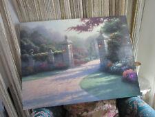 "Thomas Kinkade Limited Edition On Canvas "" Summer Gate"" 34 X 25 1/2"" No Frame"