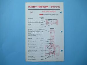 Massey Ferguson MF 1130 1100 1150 tractor lubrication service guide chart