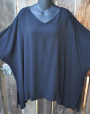 """ART TO WEAR MISSION CANYON BL12 GYPSY STYLE TUNIC TOP IN SOLID BLACK, OS+, 76""""B!"""
