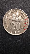 Malaysia 20 Sen 2001, Planchet Error (Very Fine)
