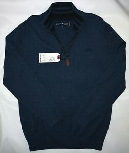 RAGING BULL MENS SIGNATURE 1/4 ZIP KNITTED TOP  IN MIDNIGHT SIZE M NWT