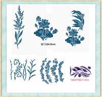 Plants Grass Cutting Dies Stencil Paper Card Making Album Embossing DIY Crafts