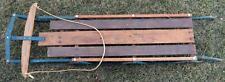 "Vintage c 1970 Wooden Flexible Flyer Snow Sled YANKEE CLIPPER Power Steering-60"""