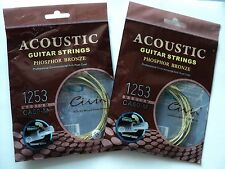 2 x sets of Acoustic Guitar Strings Phosphor Bronze: Medium