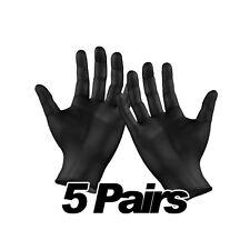 Disposable Black Powder Free Nitrile Gloves Tattoo Mechanic Car Valeting 5 Pairs