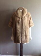 Vintage 60s Mink Fur Stole Coat Cape  Bridal Wedding Collar Wrap Jacket