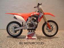 1:12 2018 HONDA CRF450R CRF 450 R MOTOCROSS MOTO X FANTASTIC QUALITY TOY MODEL
