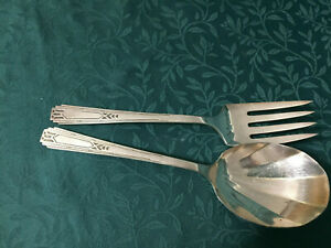 Vintage Community Silverplate Berry Spoon Serving Fork FRIENDSHIP MEDALITY 1932