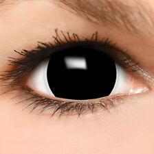 "Maxi Sclera Lenses ""Black"" schwarze Kontaktlinsen Fun Farbige Halloween Linsen"