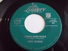 Eddie Cochran C'mon Everybody / Don't Ever Let Me Go 45 1958 Vinyl Record