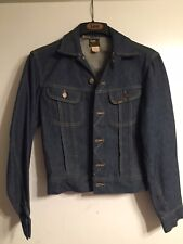 Vintage Lee Riders Sanforized Denim Jacket Size 34R Made in Usa Patd-153438
