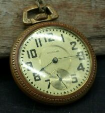 AWW CO. RIVERSIDE WALTHAM POCKET WATCH KEYSTONE 17 JEWELS RUNNING 6985264 (D3)