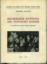 Ricorrenze notevoli del popolino barese. Alfredo Giovine