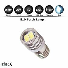 1x E10 Epistar 5730 MES Miniature LED Torchlight Screw Bulb E10 6v White 100LM