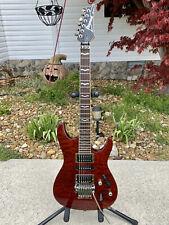 2003 Ibanez S470 DX QM Red Transparent Electric Guitar