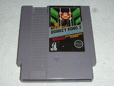 NINTENDO NES VIDEO GAME CARTRIDGE DONKEY KONG 3 ARCADE CLASSICS SERIES CART