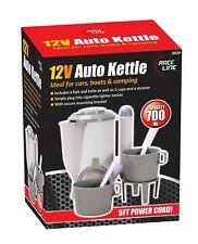 12v Plug In Car Travel Kettle Festival Camping Car Motorhome Caravan 700ml