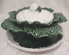 Vintage Bordallo Pinheiro Portuguese Cauliflower Tureen with Liner