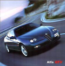 Alfa Romeo GTV 2003-05 UK Market Sales Brochure 2.0 TS 3.2 V6 Turismo Lusso