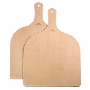 2X Pizzaschaufel Pizzaschieber Tortenheber Brotschieber Birke Holz 42*30 cm