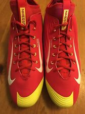 New Nike Mike Trout Vapor Flywire 27 Baseball BSBL Size 13.5 Cleats Red Yellow