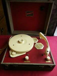 Vintage Gramette Record Player, not working for spares and Repair.