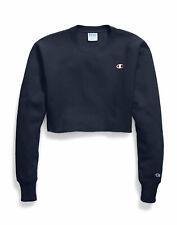 Champion Life Cropped Cut Off Sweatshirt Crew Women's Reverse Weave Fit C Logo