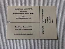 Ticket Länderspiel Basketball 1984 Deutschland - VR China in Osnabrück