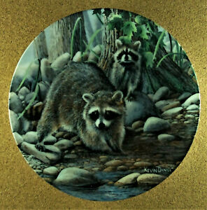 THE RACCOON Plate Encyclopaedia Britannica Friends of the Forest Kevin Daniel #2