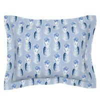 Hawaii Tropical Fruit Hostess Blue Colonial Williamsburg Pillow Sham by Roostery