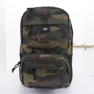 NWT Vans Transplant Modular Backpack School Laptop Bag Classic Camouflage Multi