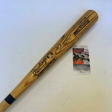 1989 Chicago Cubs NLCS Playoffs Team Signed Bat Mark Grace Andre Dawson JSA COA