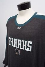 San Jose Sharks NHL Hockey Team gray light sweater shirt sz 2XL mens L/S#7709