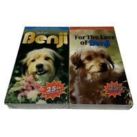 New Sealed Lot X2 Set Benji For the Love Of VHS Movie 25th Anniversary