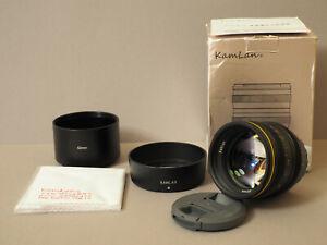 SainSonic KamLan 50 mm f/1.1 Micro Four Thirds MFT m43 schwarz black OVP