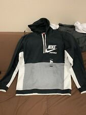 Nike Archive Men's Long Sleeve Pullover Hoodie Size X-Large Black/Grey/White