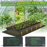 52X24cm Seedling Heat Pad Plant Seed Germination Propagation Clone Starter Mat