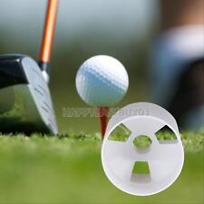 White Plastic Golf Green Hole Cup Putting Putter Yard Garden Backyard Training