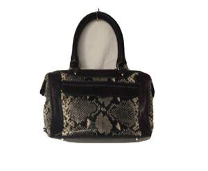 Rebecca Minkoff Purple Black Snakeskin Handbag Purse Satchel w/Dust Bag