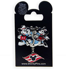 Disney Parks Cruise Line Mickey and Minnie Mouse Anchor Dangle Pin