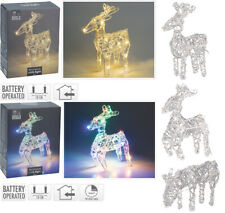 White or Multi Colour LED Christmas Light Figures Xmas Decoration Reindeer Timer