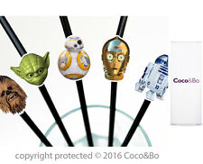 Coco&Bo 10 x Star Wars Heroes Party Straws BB8 R2D2 C3PO Yoda and Chewbacca