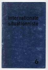 Internationale situationniste n°6  août 1961 TBE