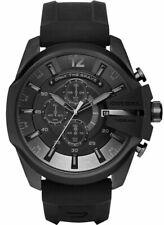 Diesel Mega Chief Oversized Chronograph Watch DZ4378 Mens Black Silicone