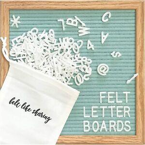 Seafoam Felt Letter Board 10x10 Inches, includes 300 White piece letters