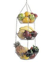 Kitchen Craft Panier suspendu pour Fruits et Légumes 3 Étages Chromé