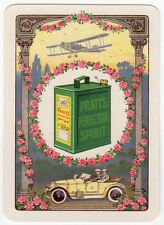 Playing Cards 1 Swap Card - Old Antique Wide PRATTS MOTOR SPIRIT Petrol Can Car