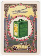 Playing Cards 1 Swap Card - Old Wide PRATTS MOTOR SPIRIT Petrol Can BI-PLANE Car