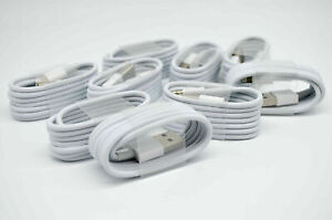 10 X Brand New USB Cable Cord Charger For iPhone 5 6 7 8 11 12 Pro Max iPad 1M